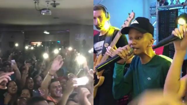 Músico recebeu carinho dos fãs em show. Fotos: Inatagram/Reprodução