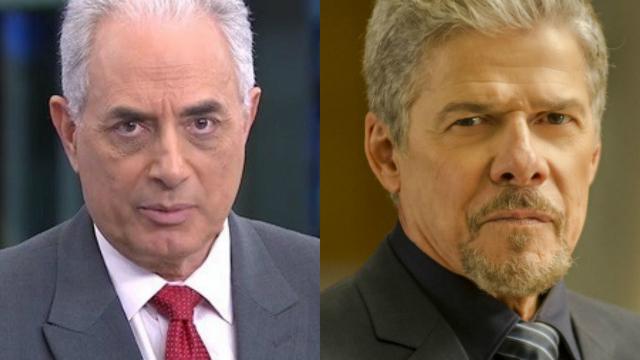 William Waack e José Mayer foram suspenso das atividades na Globo. Fotos: Globo/Reprodução