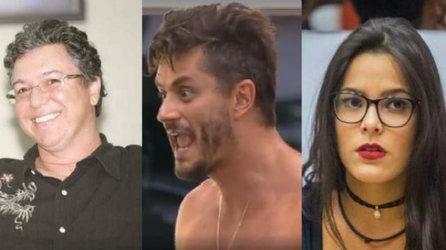As declarações do peão foram criticadas por Monick. Foto: Globo e Record/Reprodução