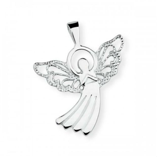 Pingente de prata Anjo da coleção de fim de ano da Prata Rara. Preço sugerido. R$ 99. Foto: Prata Rara/Divulgação