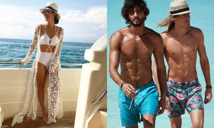 Saídas longas e de renda para as mulheres e bermudas floridas acima do joelho para os homens são hits do verão. Foto: Pinterest/Reprodução