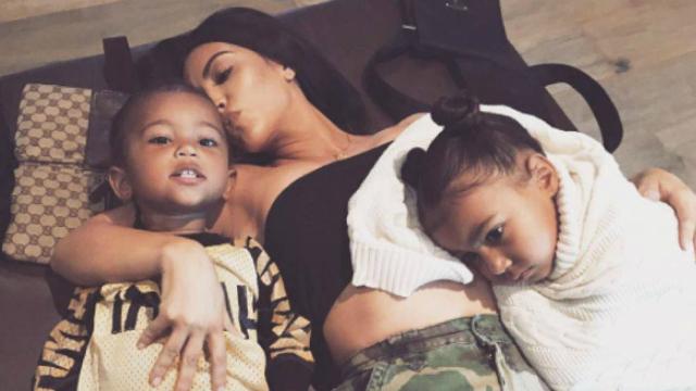 Kim e Kanye já são pais de North, de 4 anos, e Saint, de 2 . Foto: Instagram/Reprodução