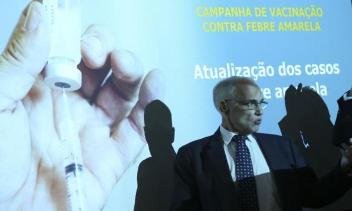 O ministro interino, Antônio  Nardi, atualiza os casos de febre amarela no país. Foto: Valter Campanato/Agência Brasil.