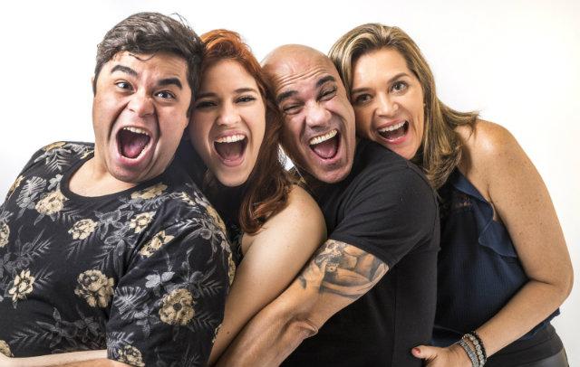 Jorge, ana Clara, Ayrton e Eva foram os primeiros a entrar na casa. Foto: Paulo Belote/Globo