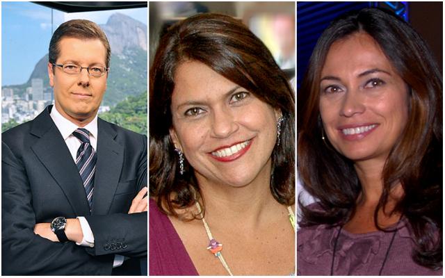 Marcio Gomes, Mônica Silveira e Beatriz Castro foram alguns dos profissionais que comentaram o acidente. Fotos: Globo/Divulgação