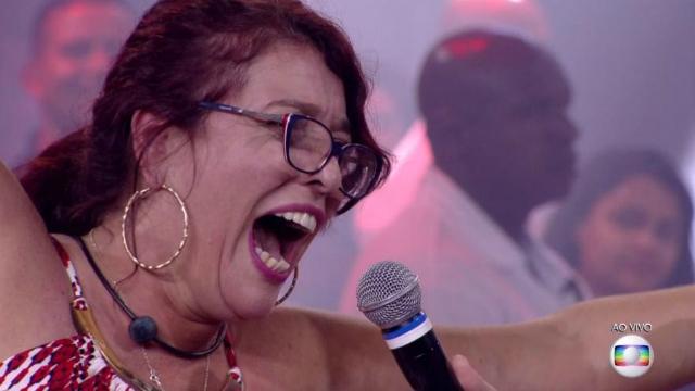 Mara fez manifestação política ao sair do programa. Foto: Globo/Reprodução