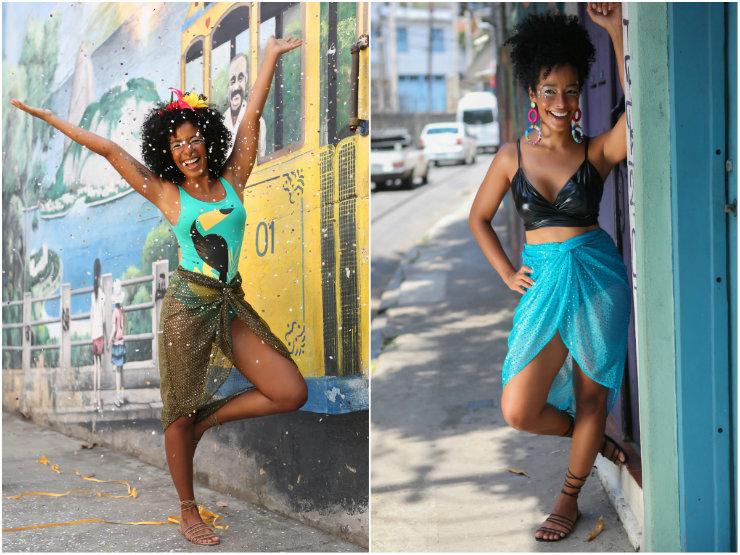 Aline Prado posou para a coleção de carnaval da Zinzane. Foto: Zinzane/Divulgação