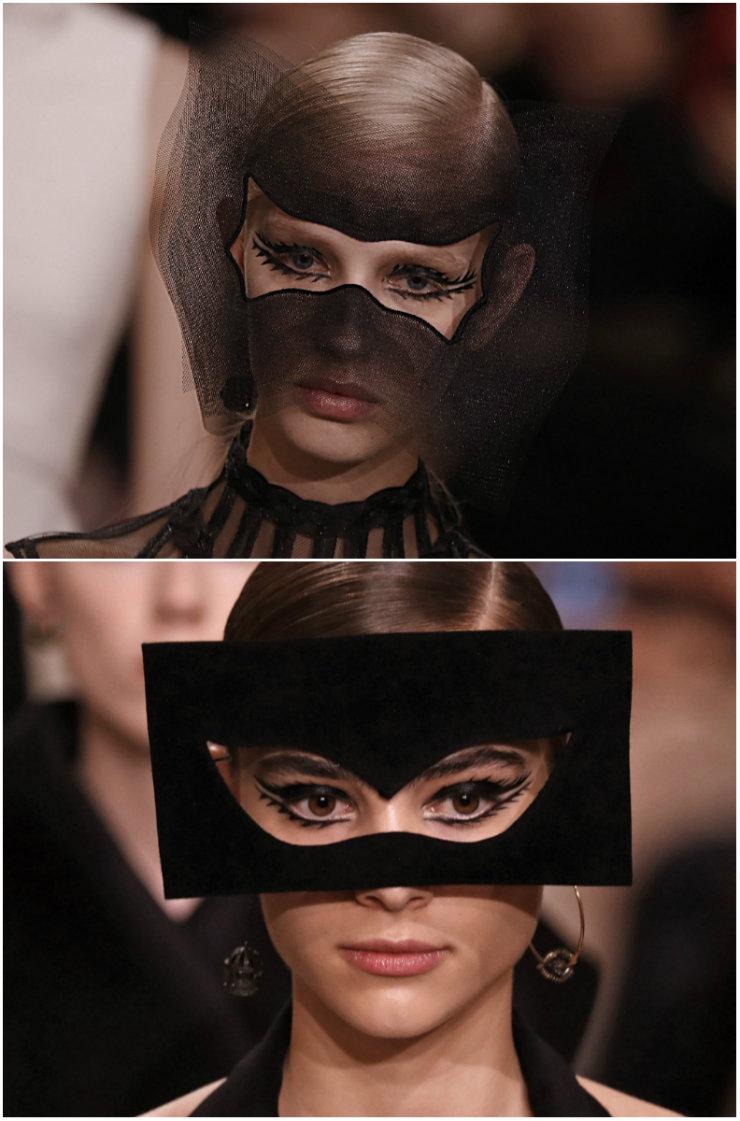 O futurismo da Dior foi um dos destaques da temporada. A coleção, assinada por Maria Grazia Chiuri, homenageou a argentina Leonor Fini. Foto: AFP/Divulgação