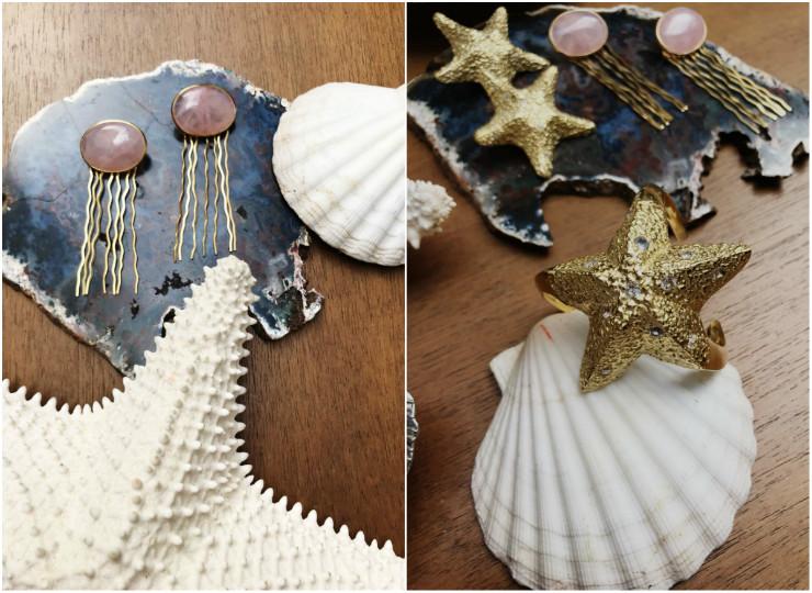 A coleção tem dez peças, entre brincos, pulseiras, earcuffs, chokers e anéis. Fotos: @natachabarbosabrand/Divulgação