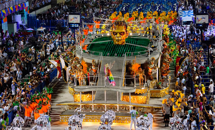O carnaval do Rio de Janeiro atrai visitantes do mundo inteiro. Foto: Fernando Grilli/Riotur