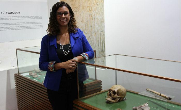 Roberta Richard Pinto, coordenadora do Museu de Arqueologia da Unicap. Foto: Julio Jacobina/DP