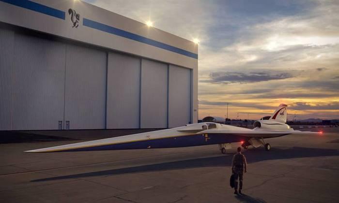 Se tudo ocorrer como o previsto, o avião fará 'o barulho de uma porta de automóvel fechando'. Foto: Lockheed Martin/Nasa