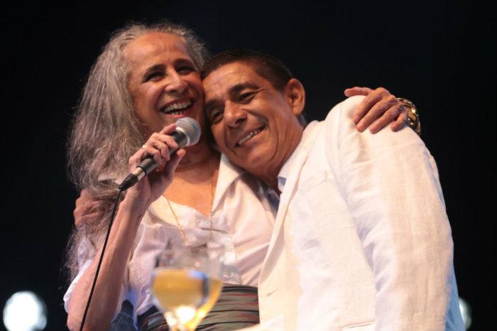 Bethânia e Zeca dão start em turnê no palco do Classic Hall. Foto: Luiz Fabiano/Divulgação