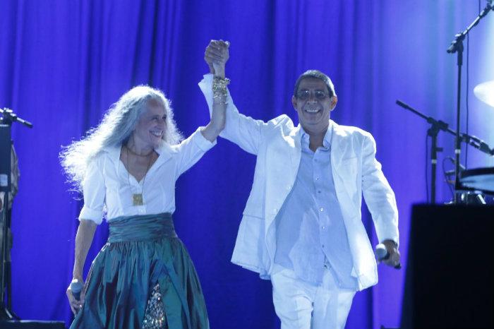 Público pernambucano vibrou com a presenta de dos grandes nomes da música brasileira. Foto: Luiz Fabiano/Divulgação