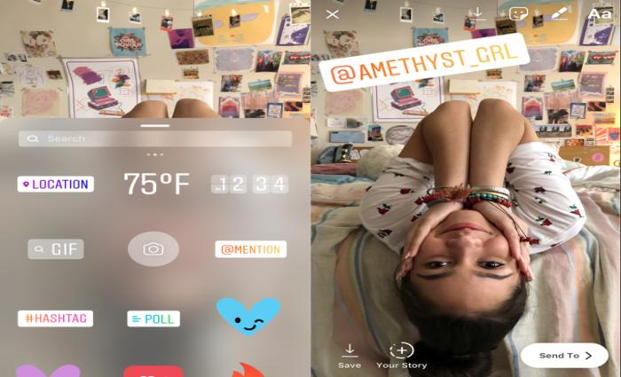 O sticker @mencionar poderá ser colocado em fotos ou vídeos. Foto: Divulgação/Instagram