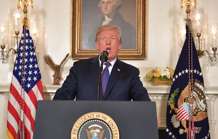 Trump afirmou em sua conta no Twitter que ataque não poderia ter sido melhor. Foto: Mandel Ngan / AFP