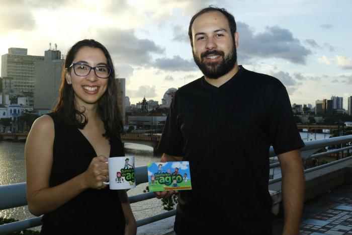 Aline Omar e Rogério Araújo são parceiros do projeto, que já têm premiações. Foto: Marlon Diego/Esp.DP