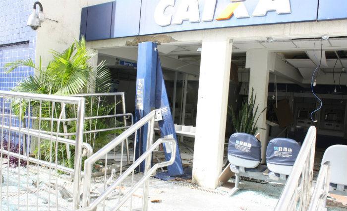 A agência ficou totalmente destruída após a explosão. Foto: Polícia Federal/Divulgação