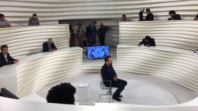 A entrevista com o presidenciável Guilherme Boulos (PSOL) teve 0,5 ponto na Grande São Paulo. Foto: TV Cultura/Reprodução