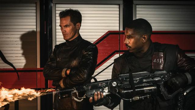 Filme Fahrenheit 451, da HBO, estrelado por Michael B. Jordan e Michael Shannon. Foto: HBO/Divulgacao