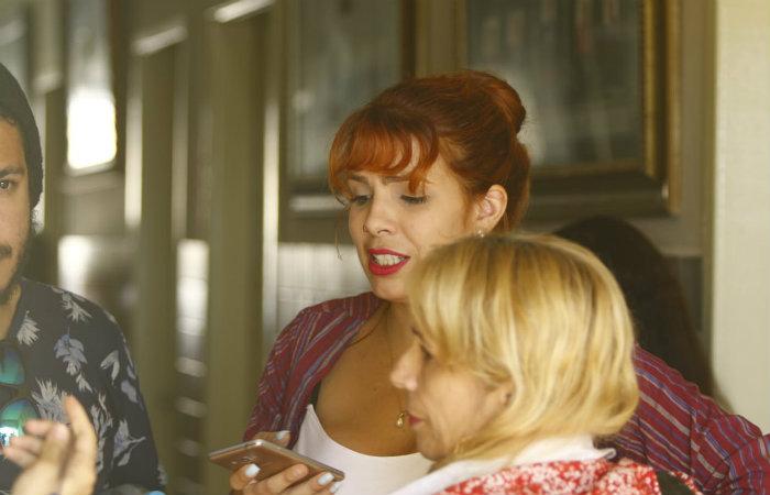 Irmã e mãe de Maria Alice acompanham o julgamento. Foto: Marlon Diego/Esp DP