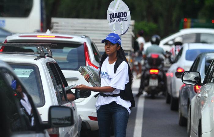 Circulação de 15 mil exemplares nos três bairros, para resgatar o hábito da leitura. Foto: Peu Ricardo/DP