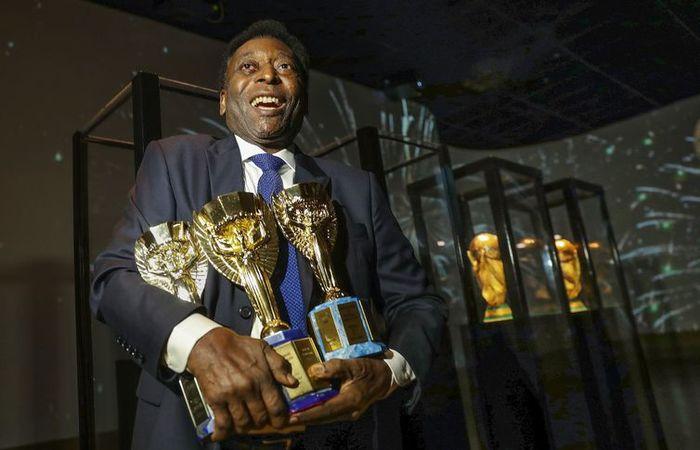 Com três títulos, Pelé é o jogador que mais ganhou Copa do Mundo. Foto: Divulgação/CBF