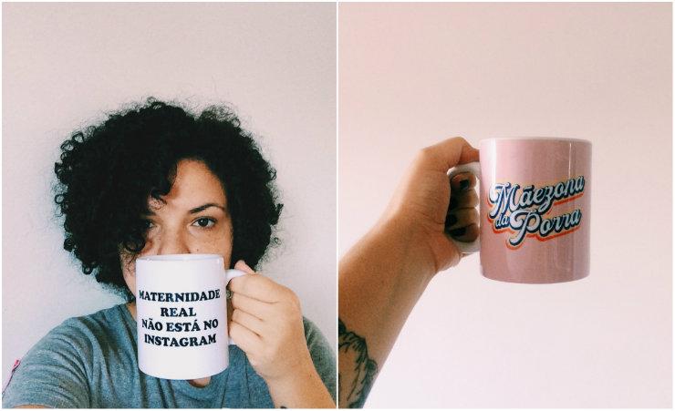 A marca reúne roupas e outros itens com mensagens questionadoras e que empoderam as mães. Fotos: Divulgação