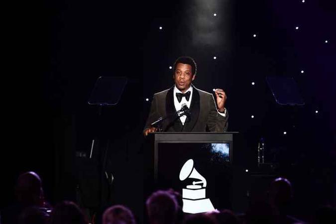 O rapper Jay-Z na 60ª edição do Grammy, em janeiro de 2018 (foto: JEWEL SAMAD/AFP)