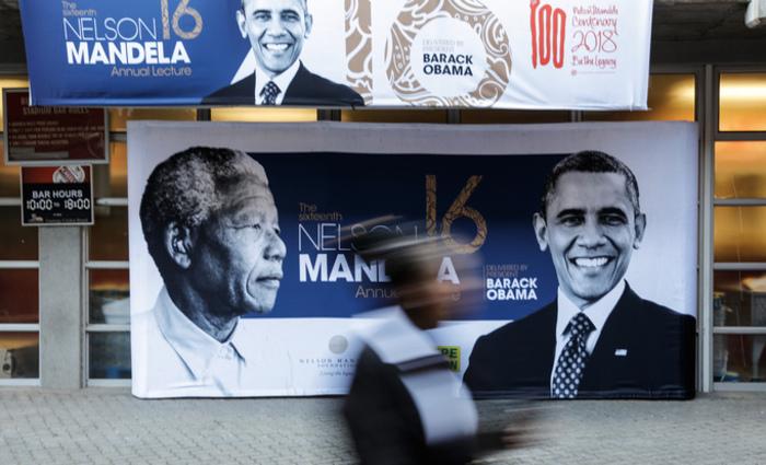 Mandela e Obama se viram uma única vez, em 2005, em Washington, mas se admiravam mutuamente. Foto: Gianluigi GUERCIA / AFP