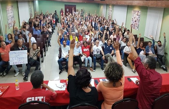 Se não houver acordo até dia 17, decretaram greve. Foto: Sindicato dos Bancários de Pernambuco/Divulgação