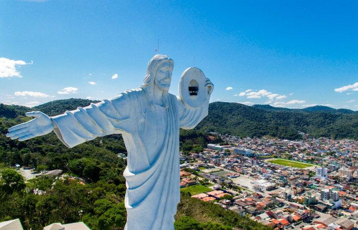 Cristo Luz é ponto turistico obrigatório na cidade. Foto: Power Produtora