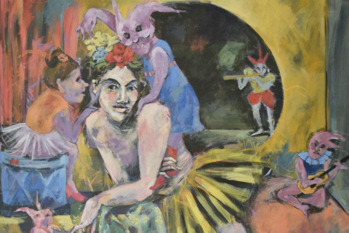 Noturnos reúne uma série de pinturas em grande formato, utilizando a técnica acrílico sobre tela. Fotos: Divulgação