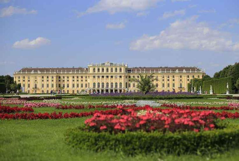 Jardins do Palácio de Schönbrunn, em Viena. Foto: Alexander Klein/AFP