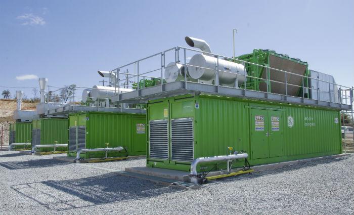 Motogeradores da usina de biogás da Asja em Minas Gerais. Foto: Asja/Divulgação
