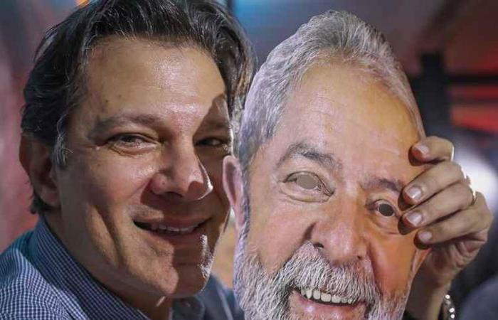 Em vídeo veiculado ontem, Haddad diz que não adianta impedir que Lula ande o país: 'Somos milhões de Lula' (foto: Ricardo Stuckert/Divulgação )