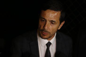 O advogado de defesa do agressor do deputado Jair Bolsonaro, Zanone Oliveira Junior fala à imprensa (Tomaz Silva/Agência Brasil)