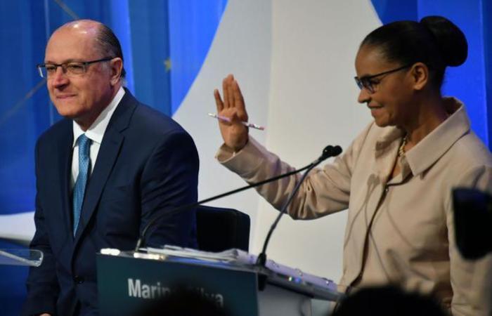 Geraldo Alckmin cresce muito lentamente nas intenções de voto, e Marina Silva caiu do segundo para o terceiro lugar nas pesquisas eleitorais (foto: AFP / NELSON ALMEIDA )
