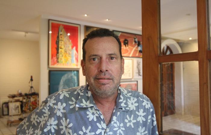Marcelo Peregrino é um dos artistas que participa do leilão social. Imagem: Nando Chiapetta/DP