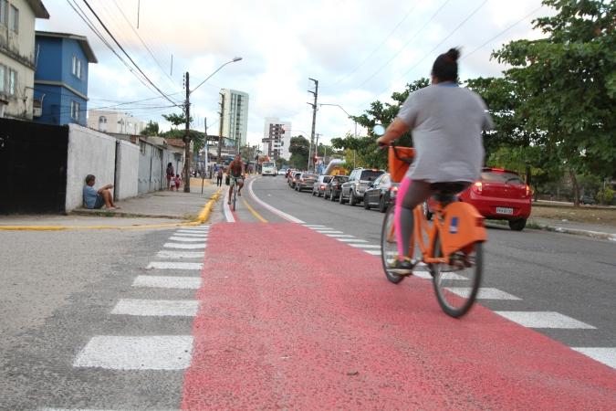 De acordo com a Ameciclo, o objetivo é que esse estudo sirva de parâmetro para a criação de projetos cicloviários nas cidades.  Foto: Nando Chiappetta/DP. (De acordo com a Ameciclo, o objetivo é que esse estudo sirva de parâmetro para a criação de projetos cicloviários nas cidades.  Foto: Nando Chiappetta/DP.)
