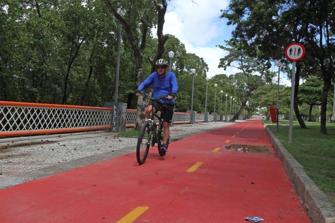 A pesquisa apontou melhoria na pintura e na sinalização das rotas cicláveis. Foto: Roberto Ramos/DP. (A pesquisa apontou melhoria na pintura e na sinalização das rotas cicláveis. Foto: Roberto Ramos/DP.)