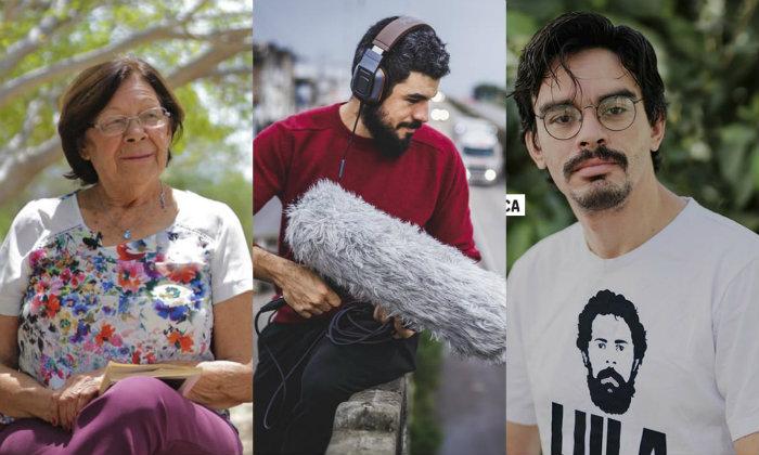 Dulce Lima, Marlom Meirelles e Saullo Dannylck ministram as oficinas. Foto: Divulgação/Dupla