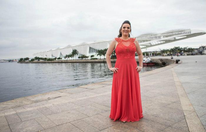 Nathalia esteve no Rio de Janeiro para receber a premiação. Ela foi uma das sete escolhidas entre as 524 mulheres inscritas. Foto: Aline Massuca/Divulgação