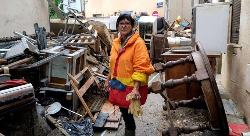 Três dias depois das inundações, 1.522 residências permanecem sem energia elétrica. Foto: AFP