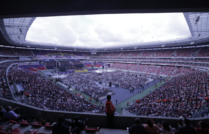 Evento realizado no ano passado, lotou a Arena de Pernambuco. Imagem: Divulgação