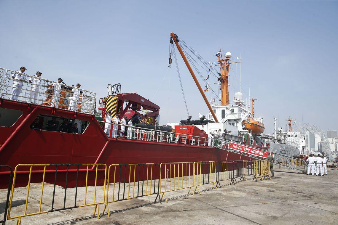 A primeira escala do navio Ary Rongel é o porto do Rio Grande do Sul. Foto: Tomaz Silva/Agência Brasil