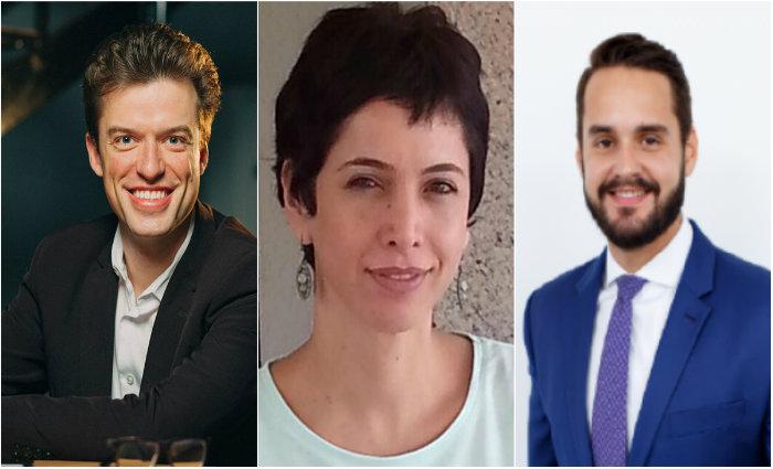 Arthur Igreja, Cristina Petersen e José Luiz falam sobre momento político brasileiro pós fake news dominarem as eleições. Fotos: arquivos pessoais