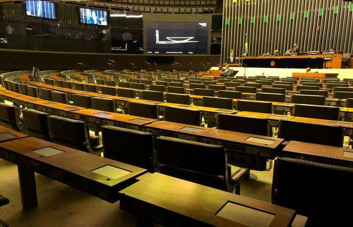 Congresso vazio na quinta-feira: deputados e senadores se encontraram com Bolsonaro a fim de sugerir medidas que evitariam desgaste com Michel Temer (foto: Bernardo Bittar/CB/D.A Press)