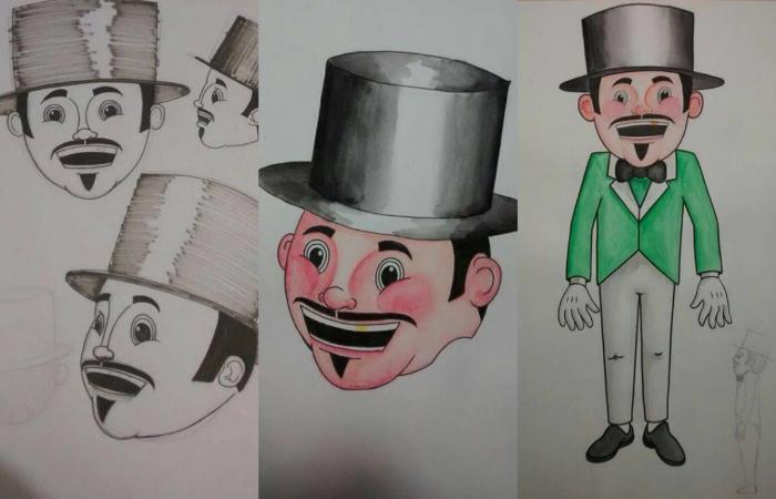 Desenho produzido pelo artista Airton Cardim. Foto: Homem da Meia-Noite/Arquivo