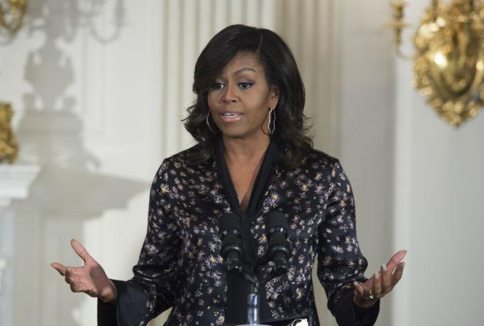 Michelle Obama falou de machismo, racismo, diferenças de oportunidade. Foto: Molly Riley/AFP.